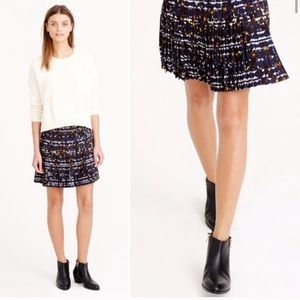 [J. Crew] NWT Lattice Hidden Floral Mini Skirt
